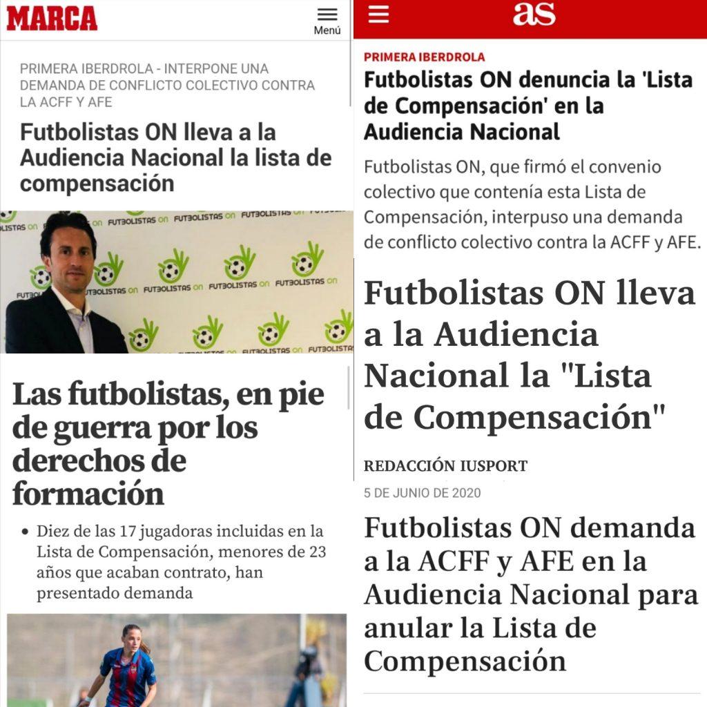 Gran repercusión mediática de la lista de compensación del fútbol femenino
